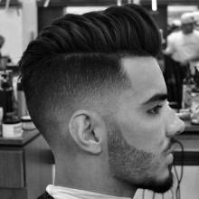 side rasierte Frisur für Männer