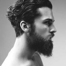slicked back-Herren stilvolle Frisuren