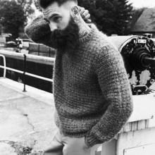 slicked back high-fade Männer hipster-Haarschnitt