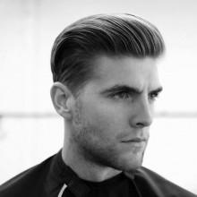 slicked back lässig-elegant klassische Herren-Frisuren