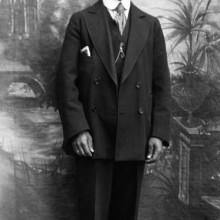 slicked zurück 1920er Jahre Herren Frisuren