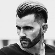 slicked zurück medium Länge Jungs Haarschnitte für Dicke gewellte Haare