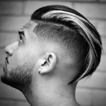 slicked zurück trendigen Herren undercut Frisuren