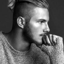 slicked zurück undercut haicut für Männer mit langen Haaren