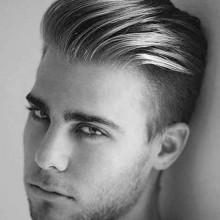 slicked zurück undercut modernen Haarschnitt Stile für Männer
