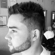 spiky classic male kurze Frisuren für dünnes Haar