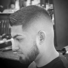 stilvolle Herren kurze fade Frisuren crew cut