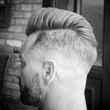 stilvollen Herren-high-verblassen Haar -