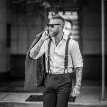 stilvollen slicked zurück undercut-Frisuren für Männer