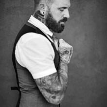 style smart männliche stilvollen Haarschnitt
