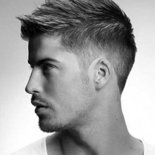 traditionell männlichen faux hawk-Haar-look