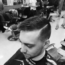 traditionelle Herren-Kamm über haircut