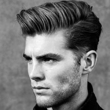traditionelle mittlerer Länge Frisuren für Männer mit glatten Haaren