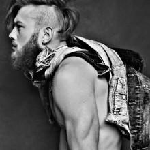 trendigen Herren-undercut mit langen Haaren auf der Oberseite