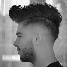 trendigen dick Mittel hoch fade Frisuren für Männer