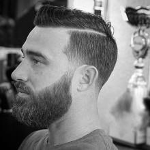 trendigen fohawk taper fade Haare für Jungs