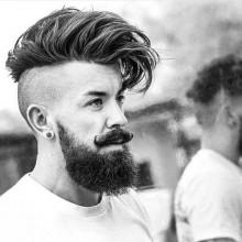 undercut Rasiert Seiten Mittel-Haare schneiden für Männer