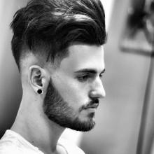 unterboten mittellanges Haar Stil für Männer