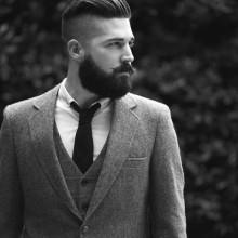 unterboten stilvolle Frisuren für Männer mit Bärten