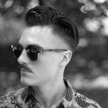 verblassen und taper Haarschnitt für Männer