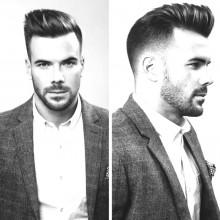 weißem Kragen Karriere Frisuren für Männer