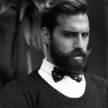 wellig Herren stilvolle Frisuren mit BART