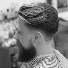 wellig männlichen Frisuren für mittellanges Haar
