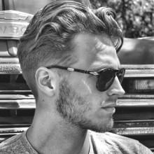 wellig stilvolle Frisuren für Männer mit dicken Haaren