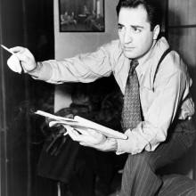 william saroyan mit beliebten 1940er Jahre Zeit Jungs Haarschnitt