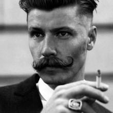zurückgekämmt Frisuren für Männer