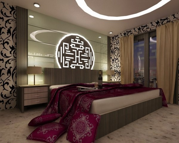asian themed schlafzimmer dekor ideen modern schlafzimmer interieur genial akzent wand. Black Bedroom Furniture Sets. Home Design Ideas