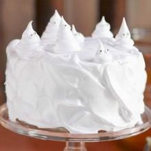 Bester nicht-scary halloween-Kuchen-Dekoration weiße Geister