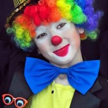 Clown make-up Kinder Kostüm, bunte Perücke, Halloween-Kostüm-make-up-Ideen