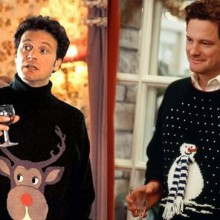 Colin Firth als Mark Darcy in funny Christmas sweater