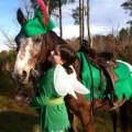 Coole Halloween-Kostüme für Pferde und Reiter peter pan