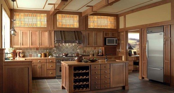 Craftsman Küche design-Ideen Küche Insel mit Holz-Schränke ...
