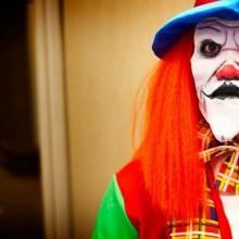 Creepy clown halloween-make-up DIY-Ideen rote Perücke clown Kostüm