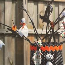 DIY Halloween Baum Dekoration halloween Ornamente Geister Kinder-Handwerk-Ideen