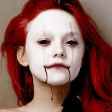 DIY Vampir make-up Ideen, halloween make-up Kunstblut Ideen