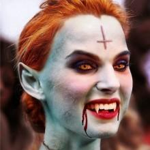 DIY Vampir make-up Ideen, halloween make-up how to make fake blood
