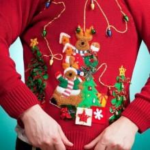DIY hässliche Weihnachts-Pullover-Ideen Weihnachts-Pullover mit Beleuchtung