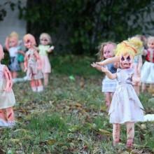 DIY halloween-Dekorationen Vorgarten Deko-Ideen zombie-Puppen