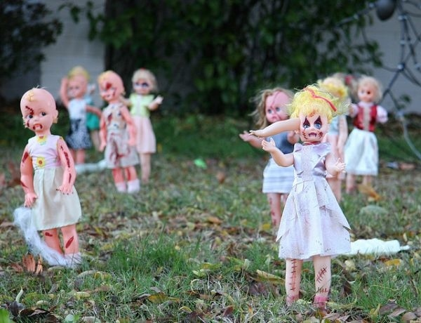 Diy Halloween Dekorationen Vorgarten Deko Ideen Zombie Puppen Kunstop De