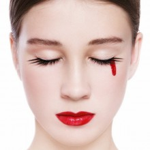 Einfache Halloween make-up Ideen, DIY halloween-make-up-Blut, Auge