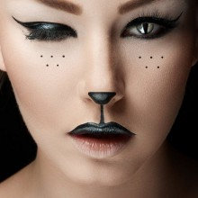 Einfaches Halloween make-up Ideen, DIY halloween-make-up cat woman