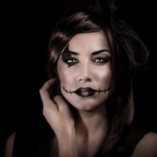 Einfaches Halloween make-up Ideen, DIY halloween-make-up schwarz make-up