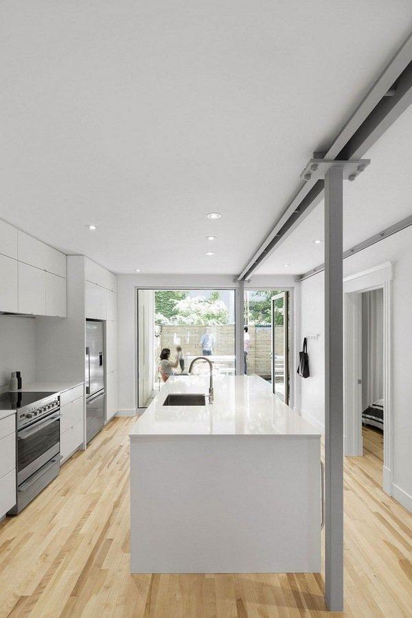 moderne wohnung weiss holz, erdgeschoss-wohnung renovierung 867 de bougainville moderne küche, Design ideen