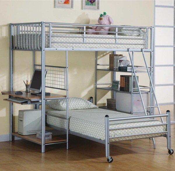 Etagenbett mit Schreibtisch kleine-Schlafzimmer-Möbel-Ideen teen ...