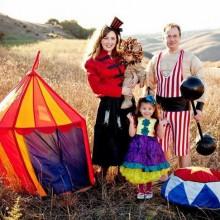 Familie Kostüme für Halloween Coole Kostüme Ideen Zirkus-Thema