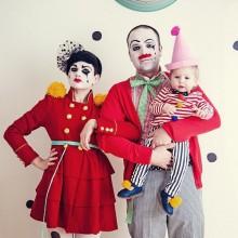 Familie halloween-Kostüme trio halloween-Kostüme Ideen circus clowns